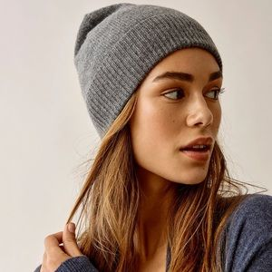 Urban Outfitters gray ribbed beanie